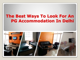 Find the Best PG Accommodation in Delhi
