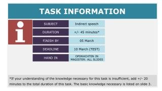 TASK INFORMATION