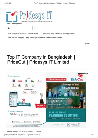 Top IT Company in Bangladesh | PrideCut | Pridesys IT Limited