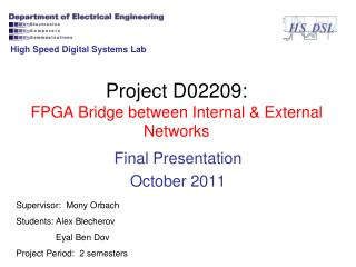 Project D02209: FPGA Bridge between Internal & External Networks