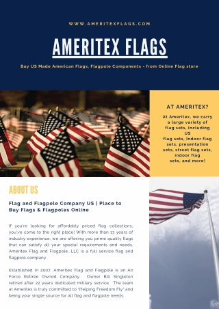 Indoor Flag Set - American, Military, Religious, Parade, Flag, Stand, & Ornaments