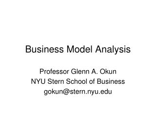 Business Model Analysis