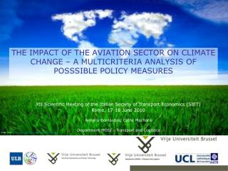 THE IMPACT OF THE AVIATION SECTOR ON CLIMATE CHANGE   A MULTICRITERIA ANALYSIS OF POSSSIBLE POLICY MEASURES