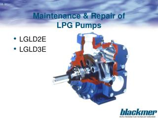 Maintenance  Repair of LPG Pumps