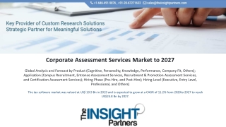 Corporate Assessment Services Market Analysis By Industry Value, Market Size, Top Companies And Growth Forecast To 2027