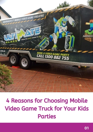 4 Reasons for Choosing Mobile Video Game Truck for Your Kids Parties