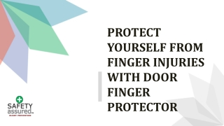 Protect yourself from finger injuries with door finger protector