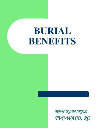 BURIAL BENEFITS