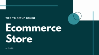 How to Setup your own Ecommerce Store in 2020?