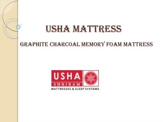 Usha Shriram Graphite Charcoal Memory Foam Mattress