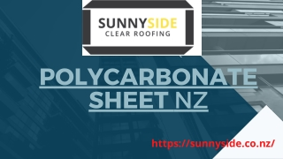 Affordable Polycarbonate Roofing and Sheets in NZ-Sunnyside