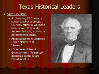 Texas Historical Leaders