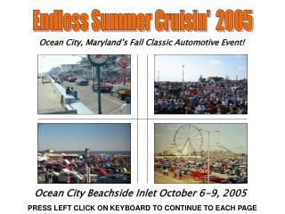 Ocean City, Maryland's Fall Classic Automotive Event!