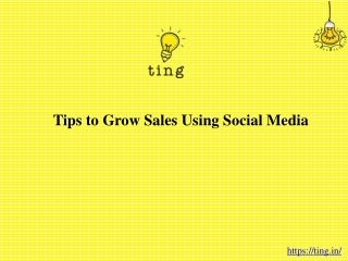 Tips to Grow Sales Using Social Media