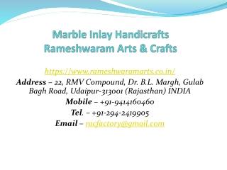 Marble Inlay Handicrafts Rameshwaram Arts & Crafts