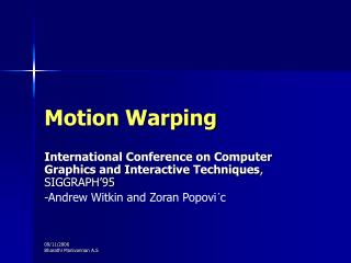 Motion Warping
