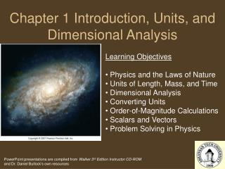 Chapter 1 Introduction, Units, and Dimensional Analysis