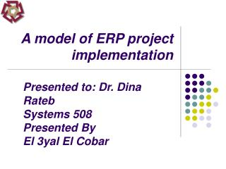 A model of ERP project implementation