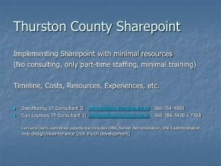 Thurston County Sharepoint