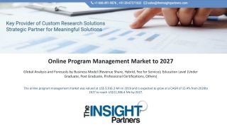 Online Program Management Market
