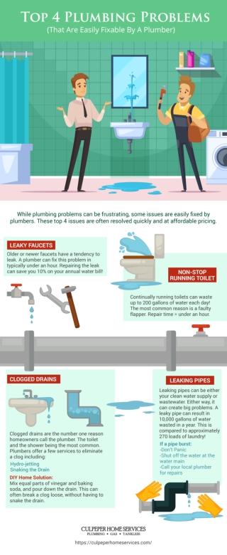 Top 4 Plumbing Problems