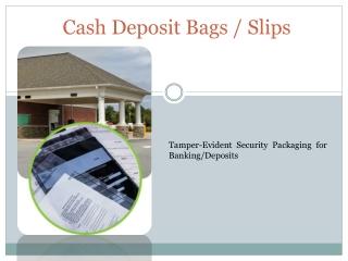 Cash Deposit Bags