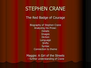 red badge of courage naturalism essays This hypertext version of the red badge of courage uses the text of the first edition of the novel, as published by d appleton & co, new york, 1895.