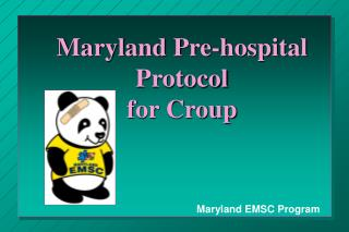 Maryland Pre-hospital Protocol for Croup