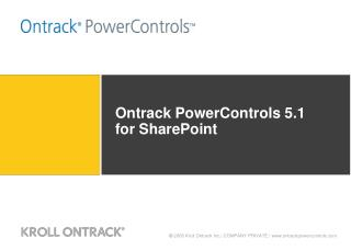 Ontrack PowerControls 5.1 for SharePoint