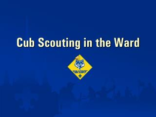 Cub Scouting in the Ward