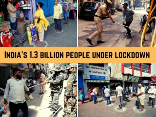 India's 1.3 billion people under lockdown