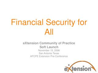 Financial Security for All