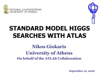 STANDARD MODEL HIGGS SEARCHES WITH ATLAS