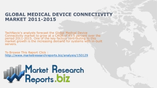 Global Medical Device Connectivity Market 2011-2015:MarketR