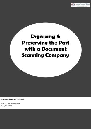 Digitizing & Preserving the Past with a Document Scanning Company