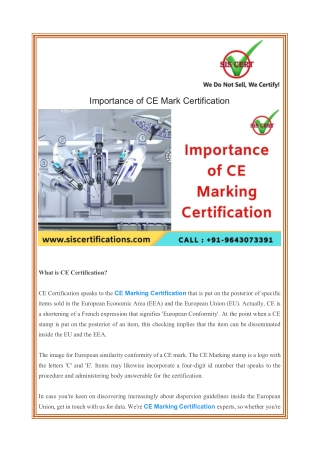 Importance of CE Mark Certification
