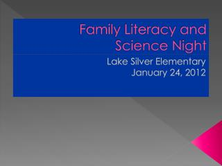 Family Literacy and Science Night