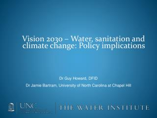 Vision 2030   Water, sanitation and climate change: Policy implications