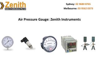 Air Pressure Gauge: Zenith Instruments