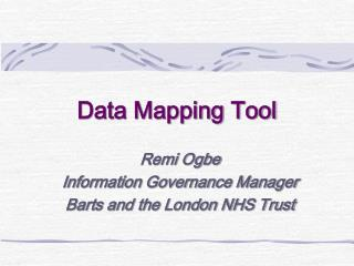Data Mapping Tool