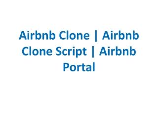 Airbnb Clone | Airbnb Clone Script | Airbnb Portal