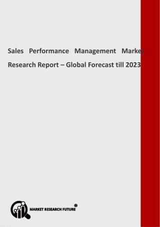 Sales Performance Management Market