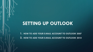 Setting Up Outlook