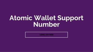 Atomic Wallet Support Phone Number【✇1(856) 254-3098✇】