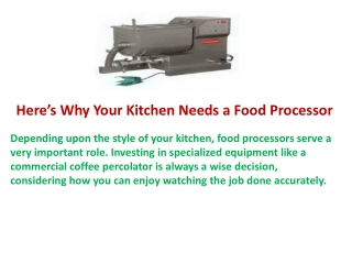 Here's Why Your Kitchen Needs a Food Processor