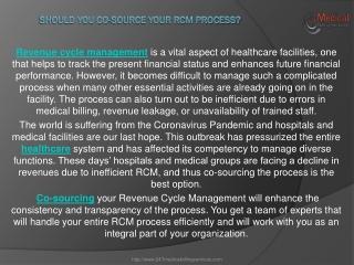 Should you Co-source your RCM Process?