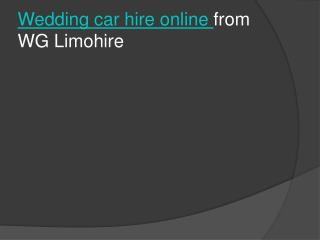 wedding car hire online