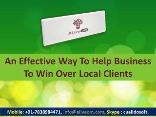 An Effective Way To Help Business To Win Over Local Clients