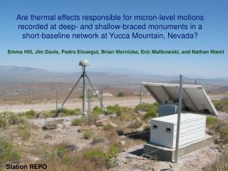 Are thermal effects responsible for micron-level motions recorded at deep- and shallow-braced monuments in a short-basel