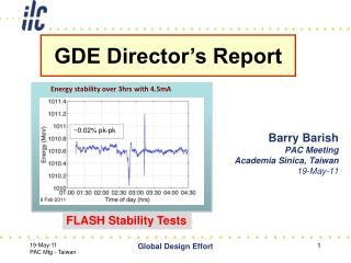 Barry Barish PAC Meeting Academia Sinica, Taiwan 19-May-11